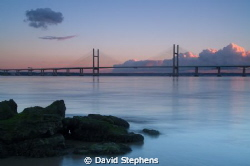 Second Severn Crossing from Sudbrook (Welsh side of Brist... by David Stephens 